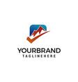 check mountain logo design concept template vector image