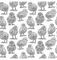 chickens sketch set hand drawn vector image vector image