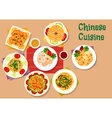 Chinese cuisine icon for restaurant menu design vector image vector image