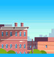 city building houses view cityscape background vector image vector image
