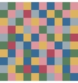 Colored squares textile abstract background vector image vector image