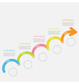 Colorful Timeline Infographic upwards arrow vector image vector image