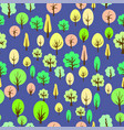 colorful tree seamless pattern vector image vector image