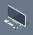 computer with smartphone and tablet flat style vector image