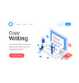 copywriting blogging isometric concept vector image