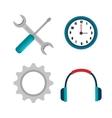 customer service call center design vector image vector image