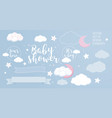 cute design elements for baby shower invotation vector image vector image