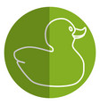 cute ducky toy isolated icon vector image vector image