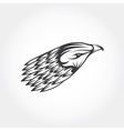eagle head design template vector image vector image