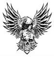 eagle skull wing vintage bolt vector image