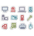 equipment stickers vector image