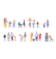 family on walk set isolated on white background vector image