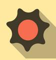 flat sun icon summer pictogram sunlight symbol vector image vector image