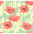 floral poppy yellow vector image