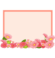 Flowers and a pink board vector image vector image