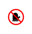 forbidden mitten icon on white background can be vector image vector image