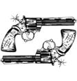 hand guns vector image vector image