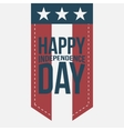 Happy Independence Day vintage Label vector image