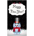 happy new year greeting card of cute cartoon vector image vector image