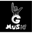 hip hop music in graffiti style vector image vector image