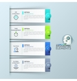 Infographic design template with 4 rectangular vector image vector image
