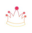 king crown in degraded magenta to yellow color vector image vector image