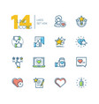 likes - set line design style icons vector image vector image