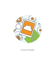 Lined outline Workplace vector image vector image