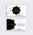 luxury marble style black and white business card vector image vector image