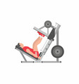 man doing leg presses vector image vector image