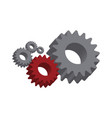 mechanical cogwheel important part vector image
