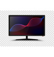 modern smart tv set 3d vector image