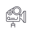 movie camera linear icon sign symbol on vector image vector image