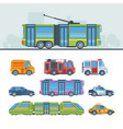 municipal cars colorful flat vector image