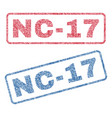 nc-17 textile stamps vector image vector image