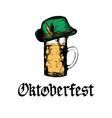 oktoberfest symbols for beer festival vector image vector image