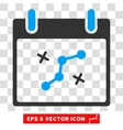 Path Points Calendar Day Eps Icon vector image vector image