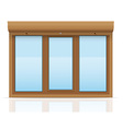 plastic window with rolling shutters 11 vector image vector image