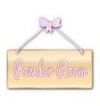 powder room sign vector image vector image