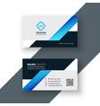 Professional blue business card geometric template