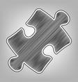 puzzle piece sign pencil sketch imitation
