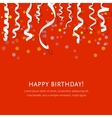 Red background with white streamers vector image vector image