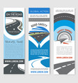 road banner set for travel and transport design vector image vector image
