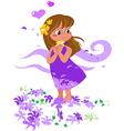Romantic girl in love vector image vector image