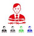 sad businessman arrest icon vector image vector image