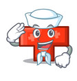 sailor cross character cartoon style vector image