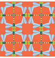 Seamless Dragonfly pattern Insect vector image vector image