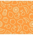 seamless pattern with contours fruit vector image