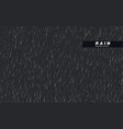 seamless rainfall texture rain drop isolated vector image vector image