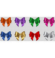 set colorful bows vector image vector image